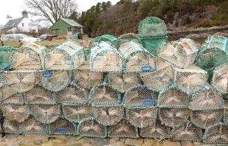 Lobster pots on West coast tour from Home Farm Bed and Breakfast Highlands of Scotland