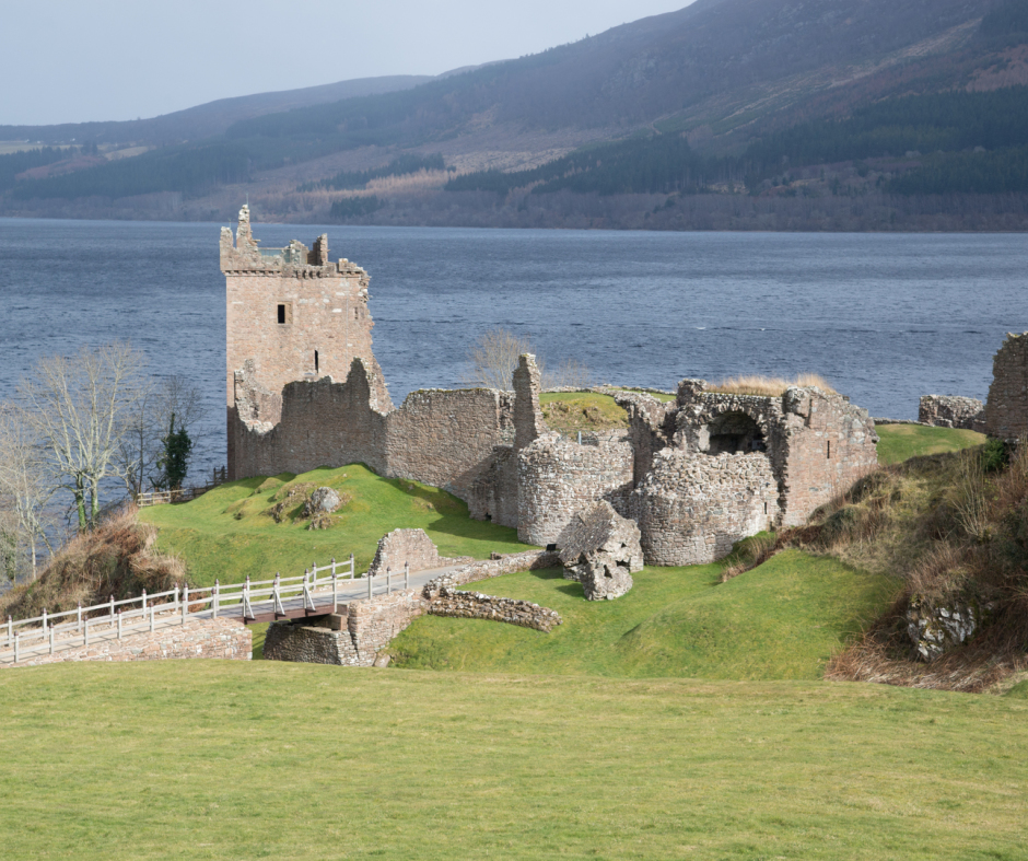 Urquhart Castle Loch Ness near Home Farm Bed and Breakfast in the North of Scotland