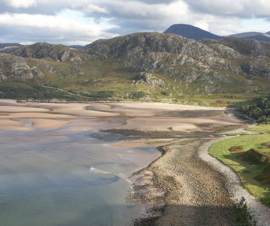 Gruinard Bay - West coast of Scotland easily accessible from Home Farm Bed and Breakfast on the Black Isle